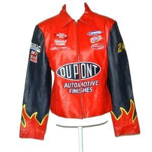 Jeff Gordon #24 Nascar Racing Jacket 100%Leather